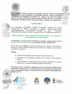 """Foro Regional: """"Río y Montañas en Peligro"""". Los pueblos y su Derecho al Territorio"""